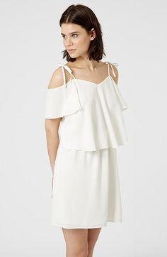 Women's Topshop Cold Shoulder Overlay Dress