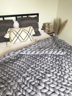 Knitted Blankets, Merino Wool Blanket, Storage Buckets, Ash Grey, Soft Furnishings, Babies, Fresh, Luxury, Pets