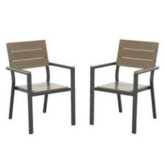Lowes allen roth Woodwinds Patio Stack Dining Chairs set of 2