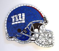 NY New York Giants Football Helmet MOSAIC TILE Wall Art Stained Glass Free U.S. Shipping on Etsy, $65.00