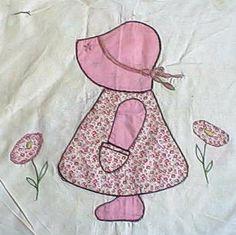 Free Quilt Sue Sunbonnet Applique Patterns | Sunbonnet Sue Bonanza! And a wonderful lady in the bargain.. ;o ...