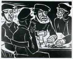 Conrad Felixmüller (1897 -1977) was een Duitse expressionistische kunstschilder. In 1919 hoorde hij tot de rebellerende oprichters van de Dresdener Secession. Onder het naziregime werd zijn werk als Entartete Kunst veroordeeld. 151 van zijn stukken werden uit musea weggehaald en in beslag genomen. In 1937 ging hij in Berlijn wonen en werken. Hij verloor echter zijn atelier in een bombardement.