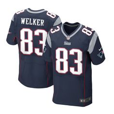 Wes Welker #83 Jersey - Mens New England Patriots Elite Team Color Blue$129.99
