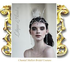 Lilique: Wedding Fairytale Crown, hand made in silver & crystals  by Chantal Mallett