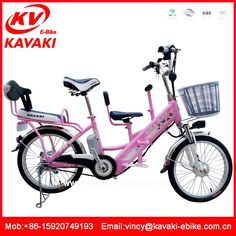 Mother and baby bike three seats family bicycle Power battery electric scooter two wheel bicycle for adults electric bike kit