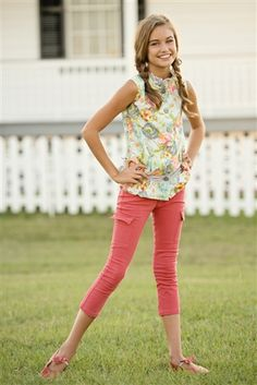 Persnickety Clothing Bo Peep Skinny Capris Coral Spring 2014 Phase 2