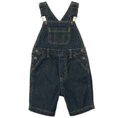 Carters Boys 9 Months Navy Blue Denim Shortalls with Adjustable Straps NWT  #Carters #Everyday