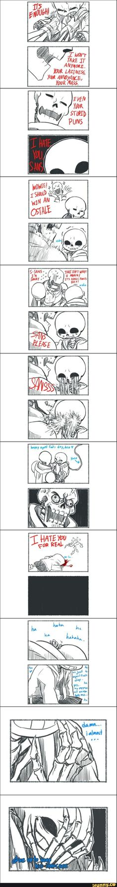 sans and papyrus - skelebros《that turned dark real fast Undertale Comic Funny, Undertale Love, Anime Undertale, Undertale Memes, Frisk, Horror Comics, Funny Comics, Comic Art, Sans And Papyrus