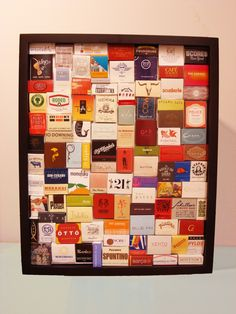 Matchbook shadow box.