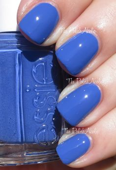 "Essie Color...""chills & thrills."" A dusty cobalt blue. Part of Essie's 2014 Neon Too Taboo Collection."
