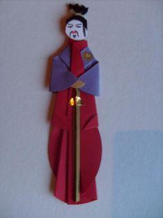 Marcador de páginas em origami - Samurai