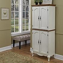 Home Styles Oak and Rubbed White French Countryside Pantry