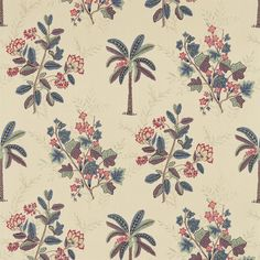 Shop for Fabric at Style Library: Palme by Zoffany. This delicate bamboo fabric design has been taken from the background of the Palme print and provid. Textile Patterns, Textile Prints, Textile Design, Print Patterns, Floral Prints, Textiles, Lino Prints, Block Prints, Pattern Art