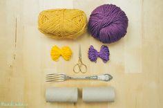 Descubra como fazer esse artesanato usando utensílios inusitados: um talher e rolos de papel higiênico!