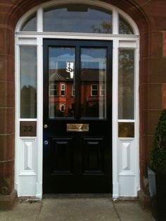 Bespoke hardwood painted entrance door with matching frame and glazed lights by Belfast Bespoke & Bespoke four panel front door. Made to measure by Belfast Bespoke ... Pezcame.Com
