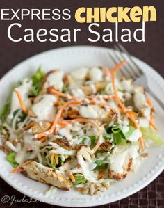 WeightWatchers.co.uk: Weight Watchers recipe - Chicken Caesar Salad #chickensalad #recipe #chicken #salad