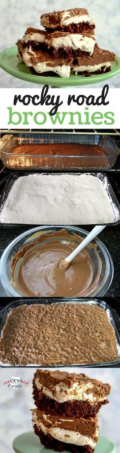 Easy and quick brownie recipe that you're going to love! Marshmallow Fluff oozes out with each delicious bite. The peanut butter chocolate mix is the perfect match to the fudgy brownie base.