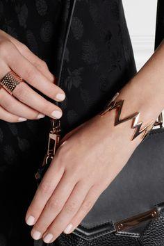 Jennifer Fisher|Pulse rose gold-plated cuff|NET-A-PORTER.COM
