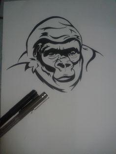 Kreslený gorila sex