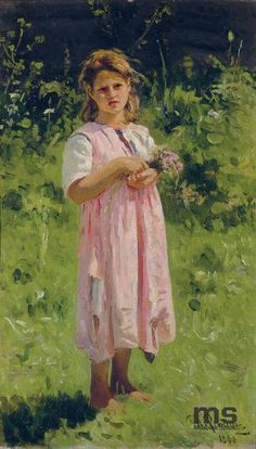 "Ilja Repin ""Peasant Girl"" Lodz, National Museum"
