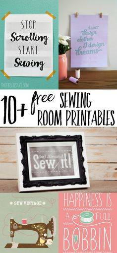Looking for DIY sewing room decor? Check out this list of FREE sewing printa… Looking for DIY sewing room decor? Check out this list of FREE sewing printables, perfect to frame and hang in your craft room. Sewing Room Decor, Craft Room Decor, Sewing Room Organization, Sewing Rooms, Wall Decor, Craft Rooms, Craft Space, Wall Art, Sewing Art