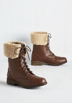 Boot of the Matter.  Size 10 $20 shipped Get to the heart of what defines your style by seeing how many looks you can fashion around these vegan faux-leather boots! #brown #modcloth