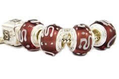 glass beads in African decoration with white high-reliefed motifs on purple. Pandora Glass Beads, Glass Jewelry, Pandora Compatible Charms, Cheap Pandora, Buy Jewellery Online, Custom Charms, Pandora Bracelet Charms, Wholesale Jewelry, Jewelry Supplies