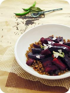 Beet and sweet potato curry - This Sri Lankan dish sounds delicious.