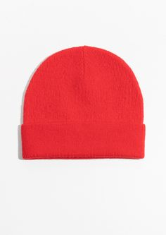& Other Stories Wool Beanie in Red