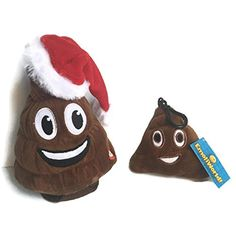 7607d770bbae6 Christmas Poop Emoji Animated Plush Toy BUNDLE with Poop Emoji Keychain  Charm -- Continue to the product at the image link.