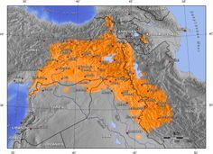 Currently Fragmented Kurdistan