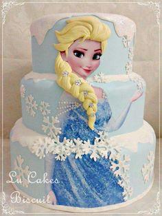 68 Best Ideas For Birthday Cake Kids Disney Frozen Party Bolo Frozen, Frozen Doll Cake, Disney Frozen Cake, Disney Cakes, Frozen Themed Birthday Party, Birthday Cake Girls, Photo Birthday Cakes, Bolo Elsa, Pastel Frozen