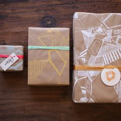 Abby Seymour — White gift wrapping paper