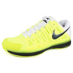 Men`s Zoom Vapor 9 Tour Tennis Shoes Volt/White/Black