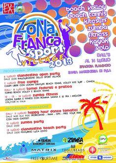 ZONA FRANCA SPORT VILLAGE 2013 – SANTA MARGHERITA DI PULA – 8-14 LUGLIO 2013