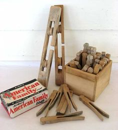 Vitage Laundry Detergent   vintage 1940 laundry room clothes line items pins box pulleys soap ...