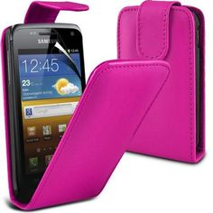 Buy Samsung Galaxy W i8150 Leather Flip Case Cover (Hot pink) Plus Free Gift, Screen Protector and a Stylus Pen, Order Now Best Valued Phone Case on Amazon! By FinestPhoneCases NEW for 10.99 USD | Reusell