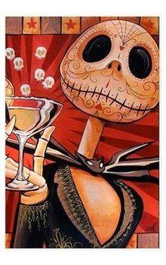 Sugar skull Jack Skellington