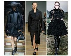 These coats have a couture of ostrich feathers