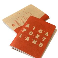 Sharp notebooks designed by @aigaportland for their recent tour of our shop. With red staples to boot! ❤️