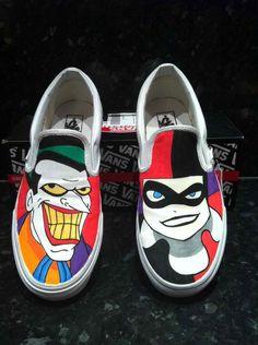 c2a7fe20020121 canvas shoes joker harley quinn slip on shoes joker harley quinn Slip-on  Pain