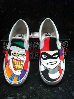 Harley Quinn and joker vans
