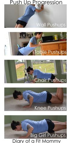 Body Building Workouts Diary of a Fit Mommy: Push-Up Progression Challenge: Working Your Way Up to Big Girl Pushups Fitness Diary, Fitness Tips, Fitness Journal, Muscle Fitness, Fit Girl Motivation, Fitness Motivation, Girl Pushups, Mommy Workout, Workout Diary