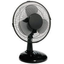 Boston 9 Inch Oscillating Fan, Metal, Black (25980)