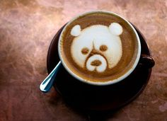 Coffee art by New York City-based artist and barista at The Breslin, Mike Breach.  via Smith & Ratliff.