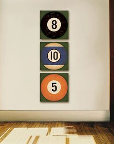Billiards 8 Ball vintage style graphic art by FowlerCreativeArts