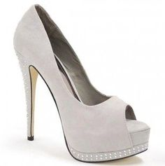 Sexy Suede Peep Toe Heels #sexy #suede #peep_toe #heels