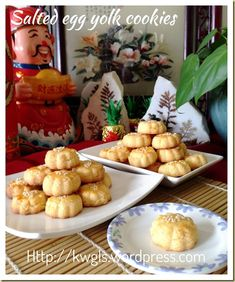 INTRODUCTION My Chinese cookies post should almost come to an end in a few days and I will be concentrating to bake my Chinese New Year cookies. Meanwhile, I have many savoury dishes recipes lined … Chinese New Year Cookies, New Years Cookies, Egg Yolk Cookies, Almond Cookies, Savoury Dishes, Food Dishes, Dishes Recipes, Egg Yolk Recipes, Salted Egg Yolk