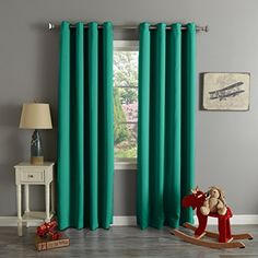 H.Versailtex® One(1) Panel Highest Level 97% Blackout Drape, Solid Pattern Thermal Insulated Feature, Grommet/Eyelet Top Curtain 96 by 52 inch -Teal H.VERSAILTEX http://www.amazon.com/dp/B014ZVE6P4/ref=cm_sw_r_pi_dp_QOUxwb0D6ZZM9