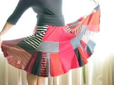 recycled jersey skirt